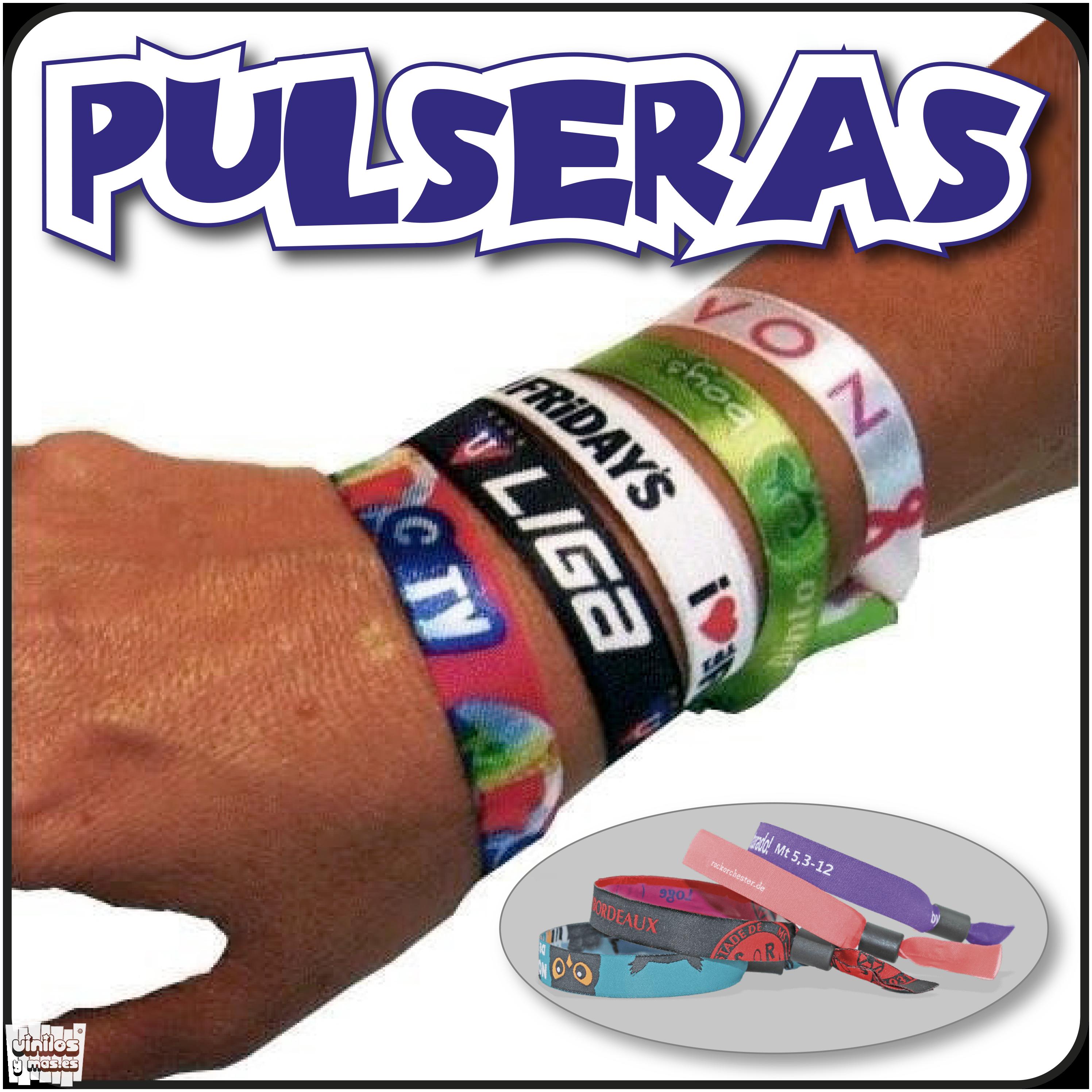 b914879f38d5 Pulseras tela personalizadas » Vinilosymas.es