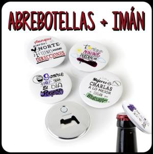 Imanes nevera + abrebotellas personalizados
