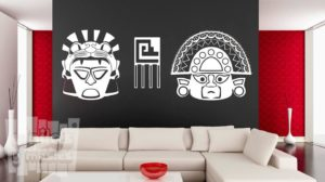 Vinilo decorativo dibujo azteca