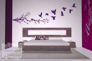 Vinilo decorativo pájaros volando