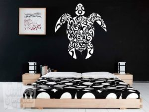 Vinilo decorativo tortuga tribal
