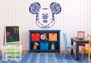 Vinilo decorativo de Mickey Mouse tribal, Disney.
