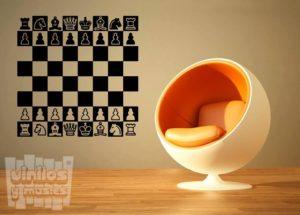 Vinilo decorativo ajedrez.