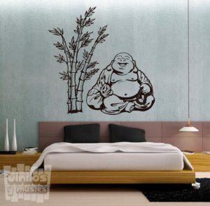 Vinilo decorativo buda +bambú