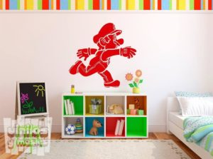Vinilo decorativo de Super Mario, nintendo.