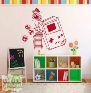 Vinilo decorativo de Super Mario y Game boy, nintendo.