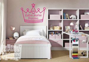 Vinilo decorativo infantil dulces sueños princesa