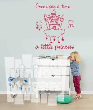 Vinilo decorativo infantil, a little princess