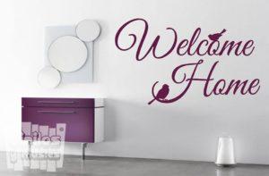 "Vinilo decorativo Welcome home ""Bienvenido a casa"""