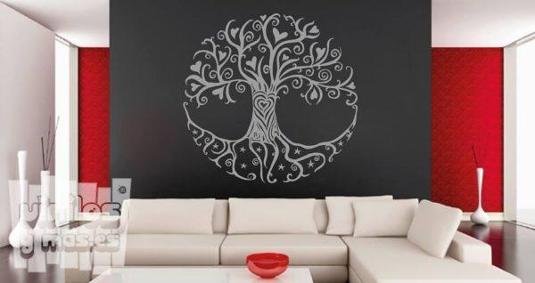 Vinilo decorativo árbol de la vida.