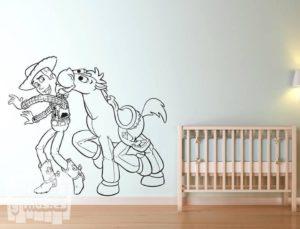 Vinilo decorativo de Woody y Perdigón de Toy story, pelicula de Disney