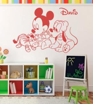 Vinilo decorativo Mickey baby - vinilosymas.es