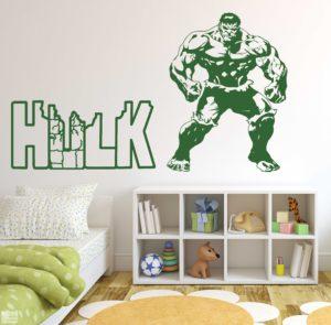 Vinilo decorativo de Hulk.