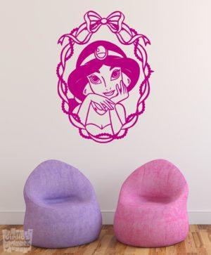 Vinilo decorativo de la princesa Jasmin de Aladdin, películaDisney.