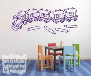 Vinilo decorativo infantil tren de juguete.