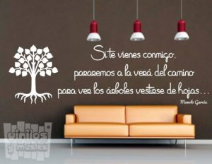 Vinilo decorativo frase Manolo Garcia