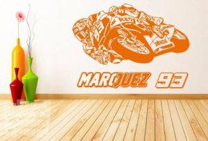 "Vinilo decorativo Marc Marquez 93 ""moto gp"""
