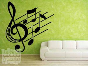 Vinilo decorativo pentagrama musica