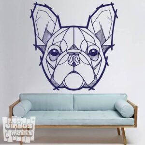 Vinilo decorativo Bulldog francés rayas...