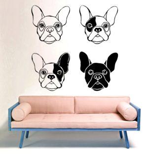 Vinilo decorativo 4 caras Bulldog francés