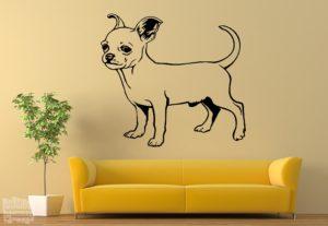 Vinilo decorativo Chihuahua 2
