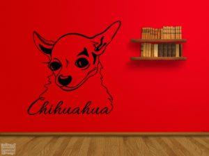 Vinilo decorativo Chihuahua 3