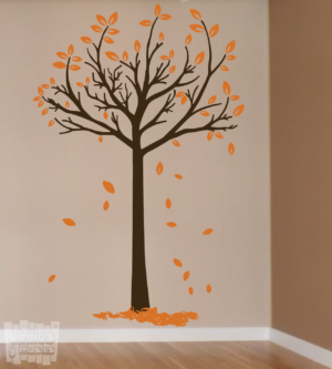 Vinilo decorativo árbol otoñal 3, 2 colores a elegir