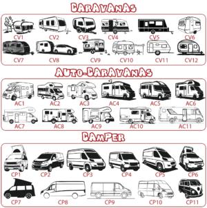 Dibujos caravanas, autocaravanas y camper - vinilosymas.es