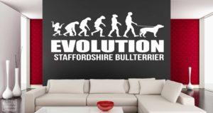 "Vinilo decorativo evolution Staff ""Staffordshire bullterrier"""