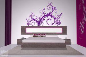 vinilo decorativo floral enredadera