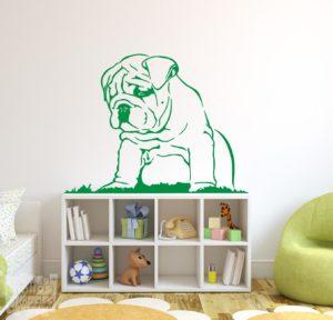 Vinilo decorativo Bulldog ingles cachorro