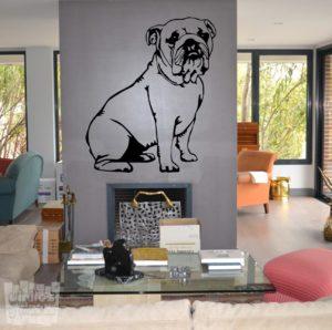 Vinilo decorativo Bulldog ingles 3