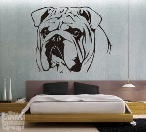 Vinilo decorativo Bulldog ingles 5