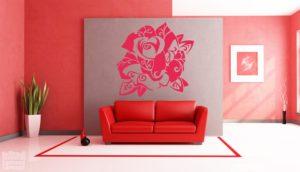 Vinilo decorativo rosa 2