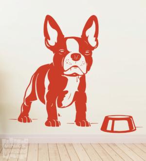 Vinilo decorativo Bulldog Francés 10