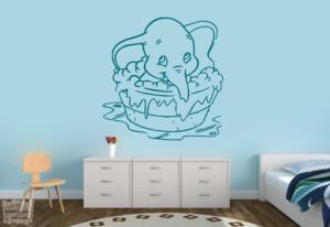 """Vionilo decorativo de Dumbo baby en la bañera """"disney"""""""