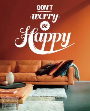 Vinilo decorativo frase: Dont worry be happy