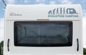 """Vinilo decorativo Evolución camping """"caravana"""""""