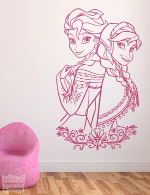 """Vinilo decorativo de Frozen """"Elsa y Ana"""""""