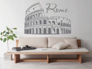 """Vinilo decorativo del Coliseo """"Roma"""""""