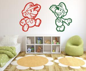 Vinilo decorativo de Mario y Luigi