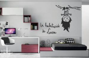 """Vinilo decorativo La habitación de """"nombre personalizado"""""""
