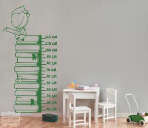 Vinilo decorativo medidor infantil libros