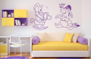 Vinilo decorativo de Winnie the pooh y Igor