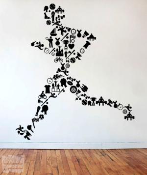 "Vinilo decorativo Running ""deportes"""
