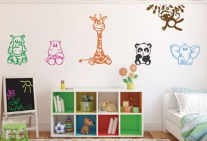 Vinilo decorativo animales infantiles 1