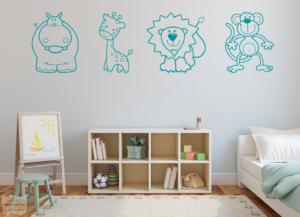 Vinilo decorativo animales infantiles 2