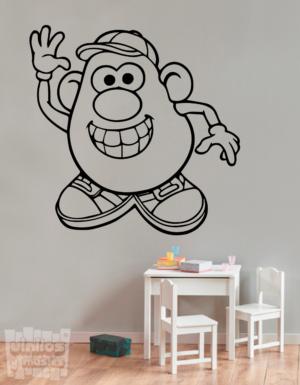 """Vinilo decorativo Mr Potato """"Señor Patata"""""""