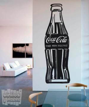"""Vinilo decorativo botellin de Coca Cola """"Andy Warhol's 1962"""""""