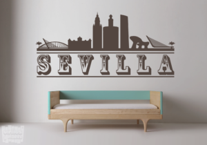Vinilo decorativo Sevilla skyline